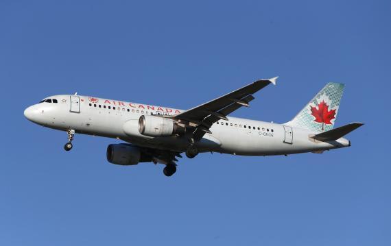 Un avión de Air Canada.
