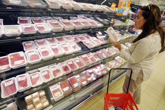 Carrefour, supermercado, carne