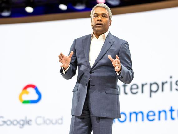 El CEO de Google Cloud, Thomas Kurian, en el Google Cloud Next 2019.