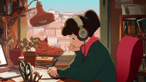 Captura de pantalla del vídeo 'lofi hip hop radio - beats to relax/study to'.