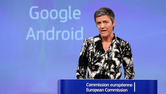 La vicepresidenta de la Comisión Europea para la Competencia, Margrethe Vestager