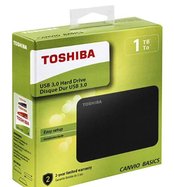 Disco duro externo portátil de 1 TB y USB 3.0