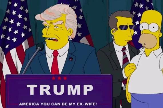 Una imagen de Los Simpsons muestran cómo Donald Trump se hizo presidente de Estados Unidos
