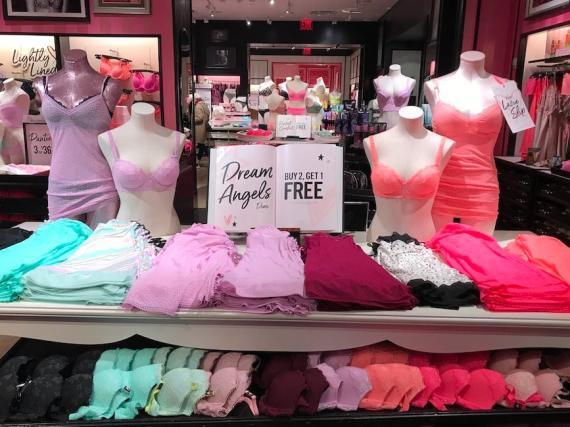 Una exhibición de Victoria's Secret en una de sus tiendas de Nueva York.