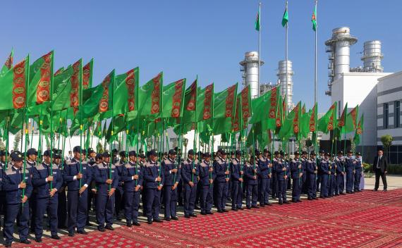 Inauguración de una central eléctrica en Turkmenistán