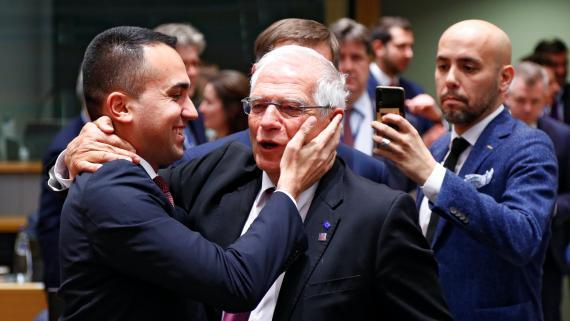 Josep Borrell, Alto Representante de la UE, junto a ministros de Exteriores europeos.