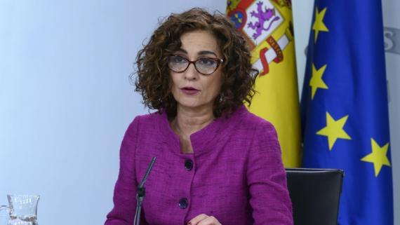 María Jesús Montero, ministra portavoz.