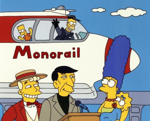 El 'Monorail' de Los Simpsons.