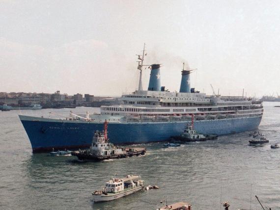 El Achille Lauro en 1985.