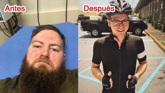 Tras 6 meses sin beber, este hombre parece una persona completamente diferente.