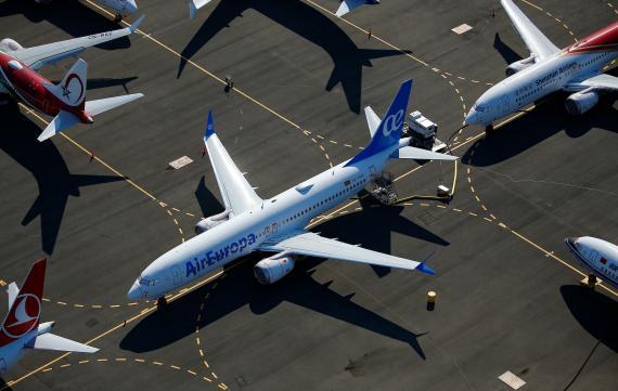Un avión de Air Europa en Seattle, Washington, EEUU.