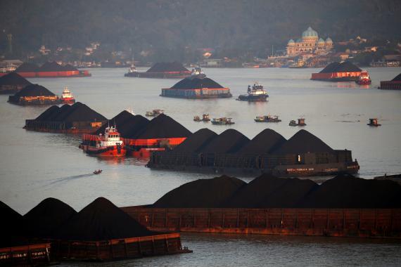 Barcazas de carbón