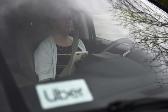Una conductora de Uber en Louisiana, EEUU.