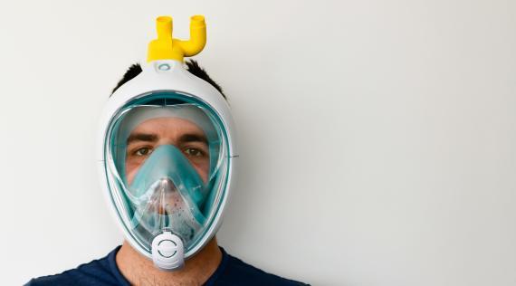 Isinnova utiliza máscaras de Decathlon