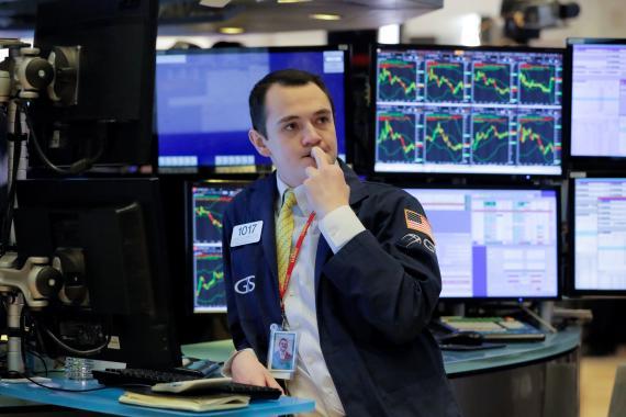 Nerviosismo en los traders de Wall Street ante el coronavirus.
