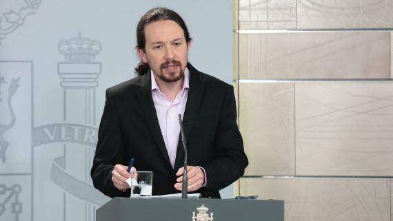 Pablo Iglesias, en rueda de prensa posterior al Consejo de Ministros.