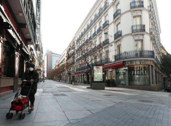 Primer día de estado de alarma: centro de Madrid