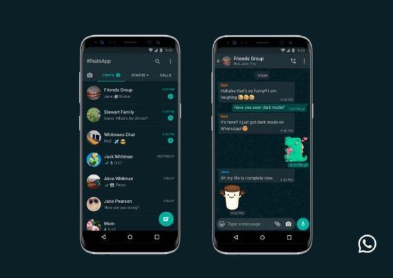 WhatsApp ha habilitado una opción de modo oscuro para iOS y Android.