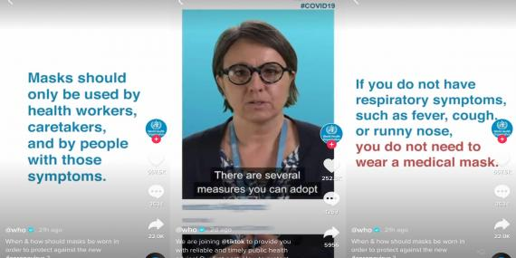 The WHO joined TikTok and is spreading information about coronavirus.