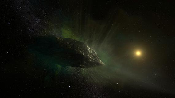 Ilustración del cometa 2I/Borisov.