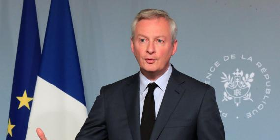 French Finance Minister Bruno Le Maire in Paris on April 15.
