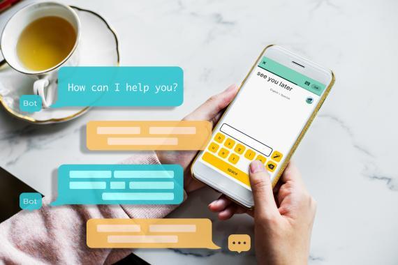 Practicando idiomas a través del teléfono móvil.