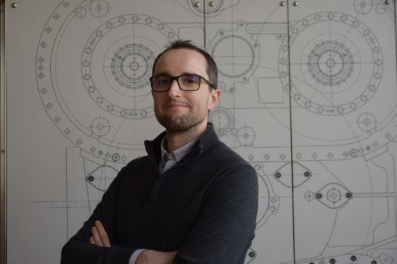 Jesús López Ruiz, de 37 años, es jefe técnico de Diseño Preliminar para Proyectos Futuros de Avio Aero.