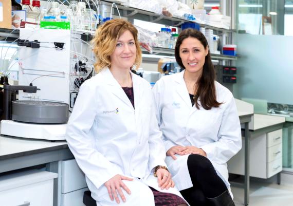 Marie-Eve Beaulieu (izquierda) y Laura Soucek (derecha), cofundadoras de Peptomyc.