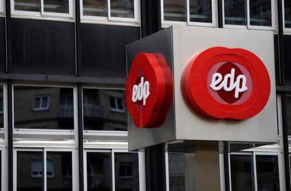 Logo de la compañía eléctrica portuguesa EDP.