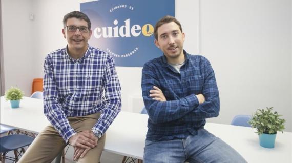 Roberto Valdés (consejero delegado) y Adrià Buzón (CEO), co-fundadores de Cuideo.