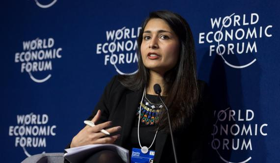 La directora gerente del Foro Económico Mundial, Saadia Zahidi