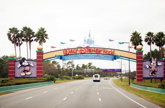 Entrada de Disney World en Orlando.