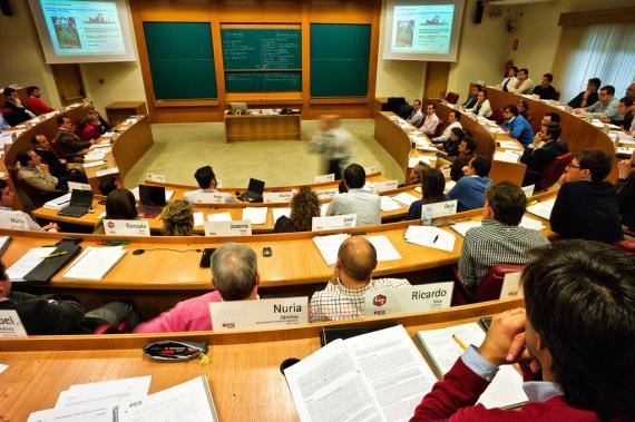 Una clase en el IESE Business School