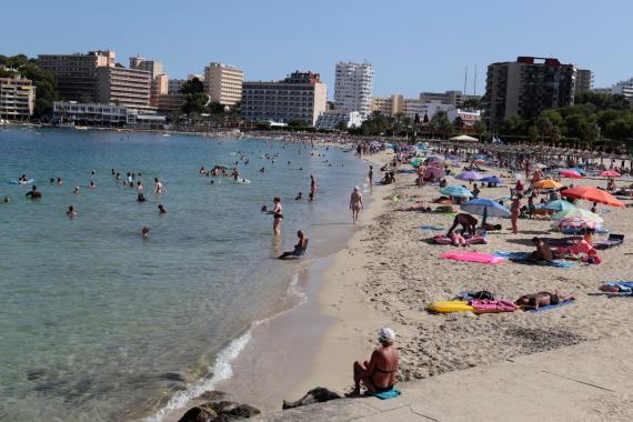 Playa de Mallorca en agosto de 2017.
