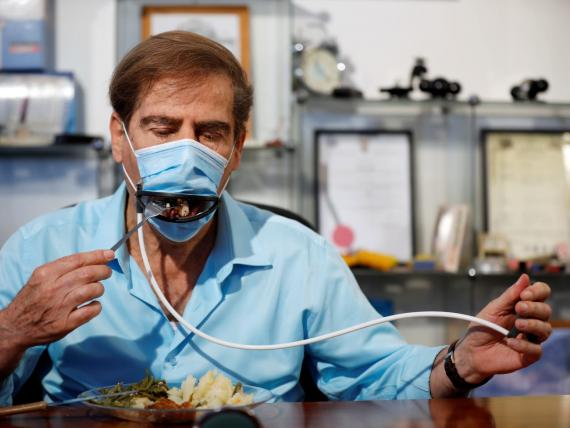 La mascarilla diseñada por la empresa israelí Avtipus Patents and Inventions.