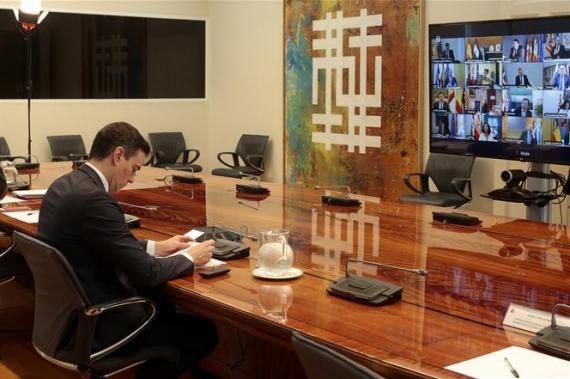 Pedro Sanchez, en su conferencia con los presidentes autonómicos, confirma que pedira la sexta prorroga de la alarma