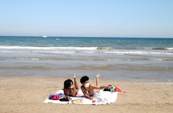 Playas durante de desescalada.