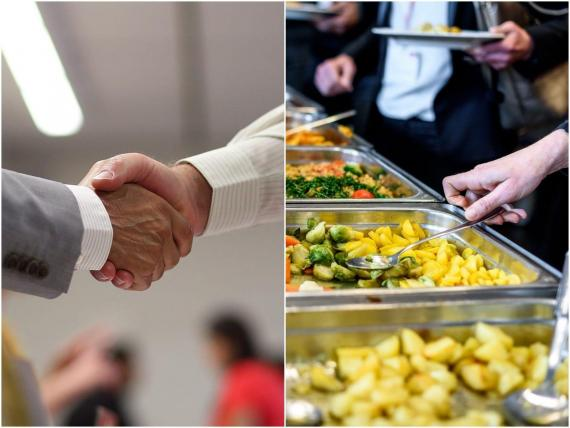 Shaking hands and eating at buffets may be things of the past.
