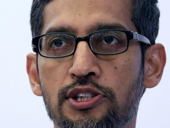 Sundar Pichai, CEO of Google and Alphabet, speaks on artificial intelligence during a Bruegel think tank conference in Brussels, Belgium January 20, 2020.