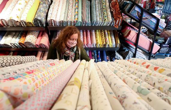 Una tienda de telas en Bruselas