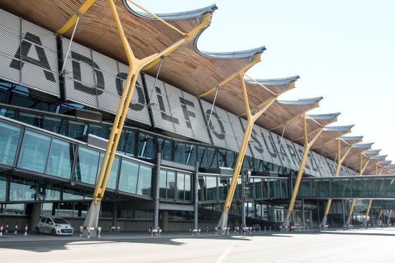 El Aeropuerto de Madrid-Barajas Adolfo Suárez, en la capital.