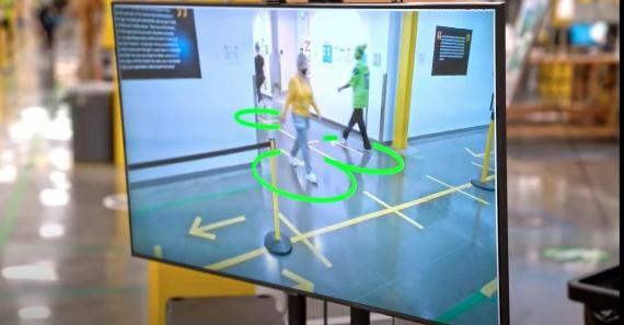 Amazon is putting AI cameras in some of its warehouses to see if workers are actually standing six feet apart