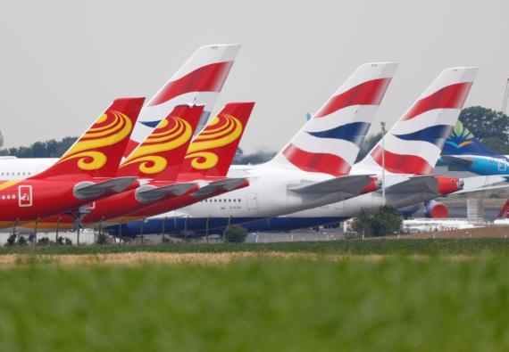 Aviones en el Aeropuerto de Chateauroux, en Francia.