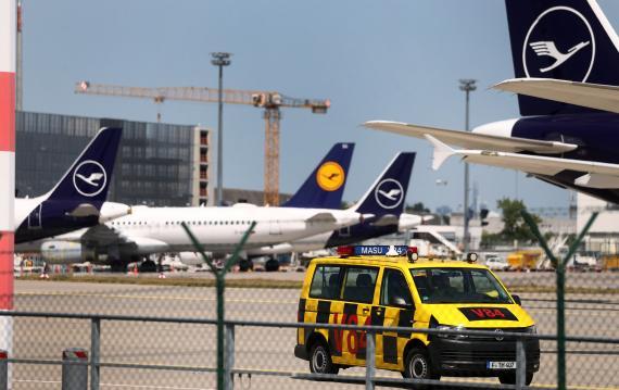 Aviones de Lufthansa en plena pandemia del coronavirus, en Frankfurt, Alemania.