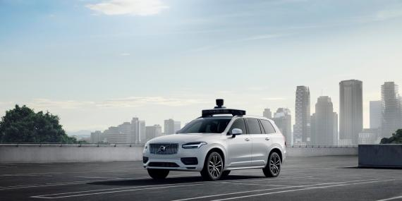 Una imagen promocional de la tecnología de coches autónomos de Uber.