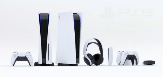 Esta es la consola PS5, en dos versiones, estándar y digital