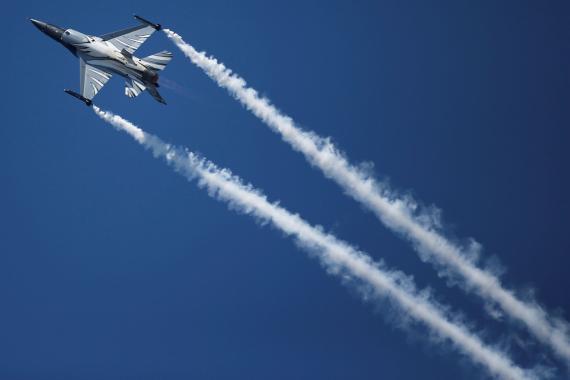 Un F-16 de Lockheed Martin.