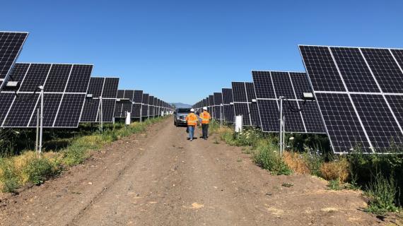 Una planta solar con dispositivos de Soltec en Ohio, EEUU