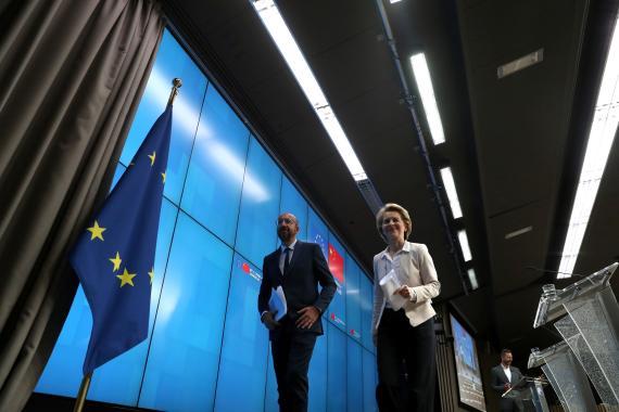 El presidente del Consejo Europeo, Charles Michel, y la presidenta de la Comisión Europea, Ursula von der Leyen
