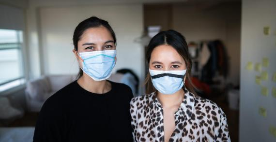 Sabrina Paseman and Megan Duong, the cofounders of Fix The Mask Fix.